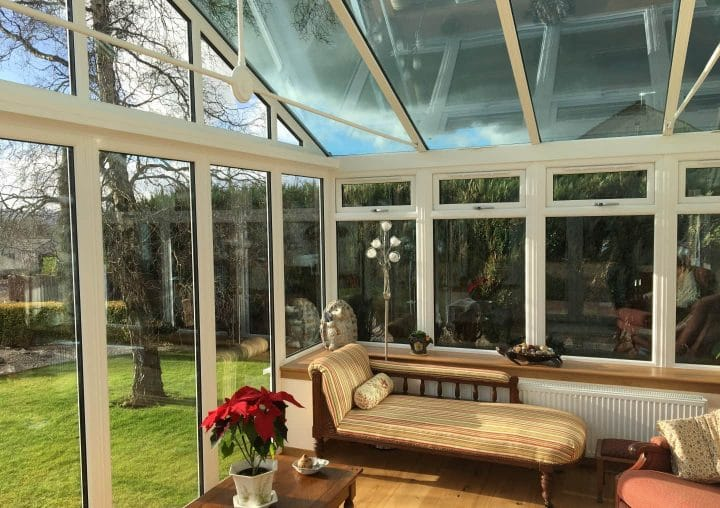 PVCu pitched conservatory