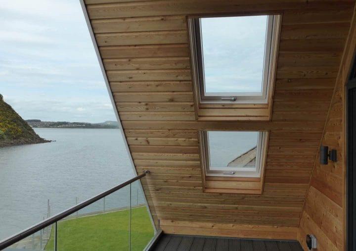 Tilt and turn windows on balcony