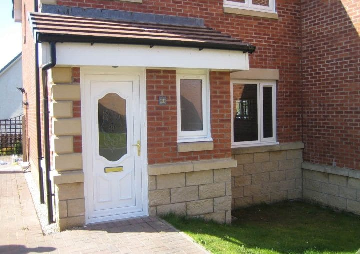 Home with PVCU doors and windows