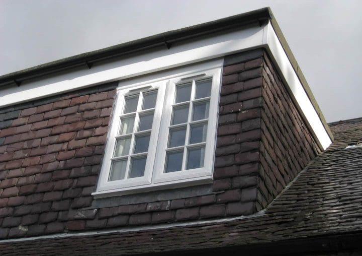 Close up of white PVCU windows