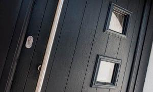 Composite door up close