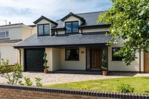 Modern house with dark casement windows - SRJ Windows