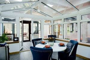 Conservatory in a showroom - SRJ Windows