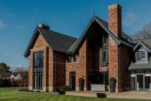 Modern home with casement windows