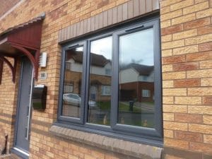 Grey casement windows - SRJ Windows