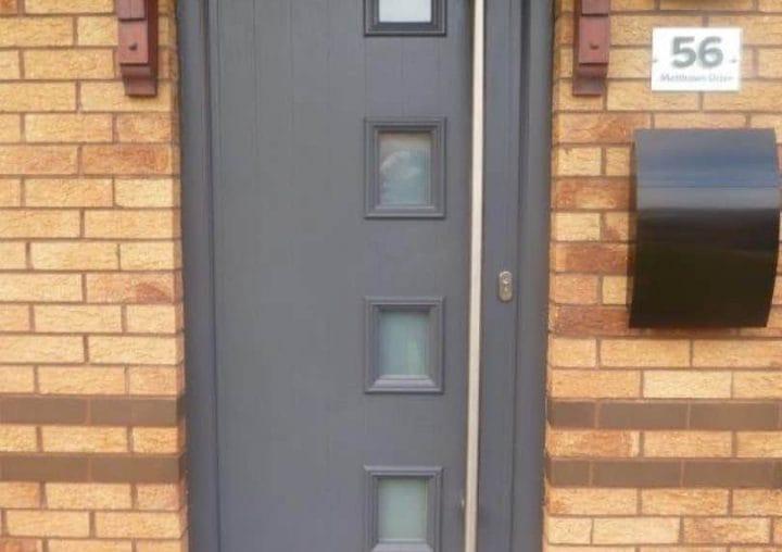 Grey Modern Composite Door by SRJ Windows