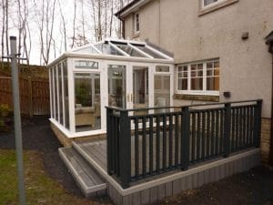 Conservatory with decking