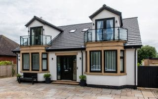 french doors and bay windows