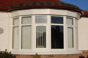White Curved Bay Window - SRJ Windows