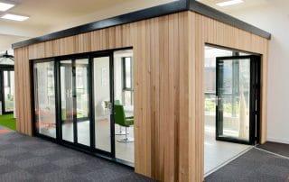 Black bi-folding doors