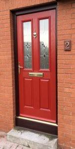Red Composite Door - SRJ Windows