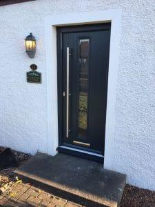 Composite Door in Dark Grey - SRJ Windows