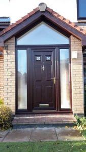 Porch with composite door and glass panels - SRJ Windows