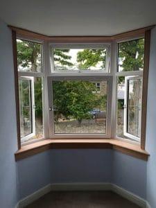 Bay window from inside the house - SRJ Windows