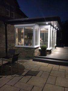 White sunroom extension - SRJ Windows