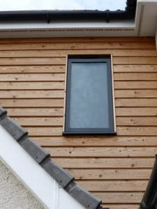 Grey tilt and turn window - SRJ Windows
