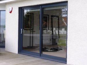 Grey sliding doors - SRJ Windows