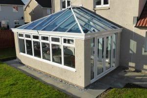 White PVCU conservatory