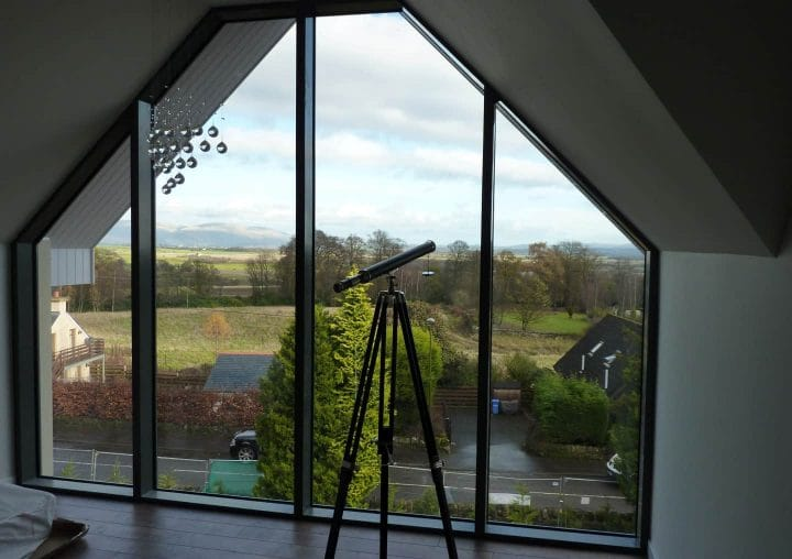 Large glass window