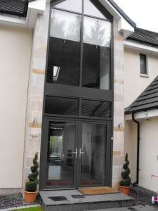 Glass double front door - SRJ Windows