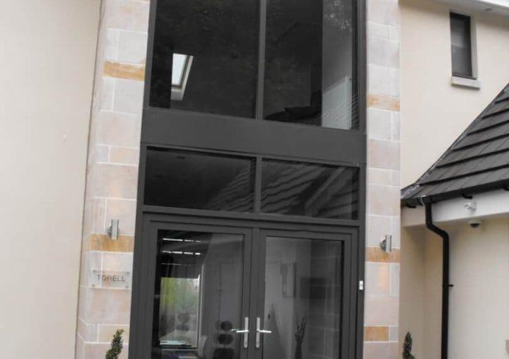 Glass double front door