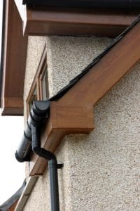 Fascia and guttering up close