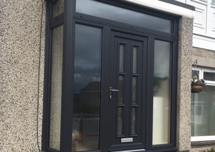 Nice black porch