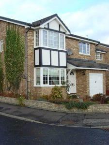 Modern house with white PVCU windows - SRJ Windows