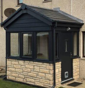 Sturdy Dark Grey Porch Door - SRJ Windows