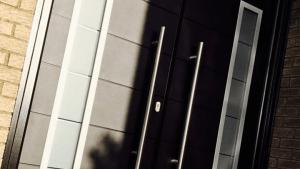 Black Composite PVCU Door - SRJ Windows