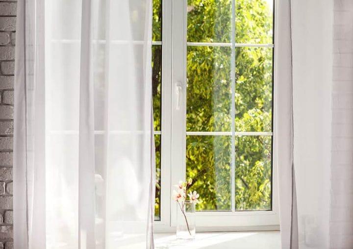 Tilt and turn white windows