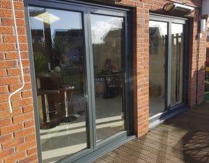 Grey Aluminium Bi-Fold Doors - SRJ Windows