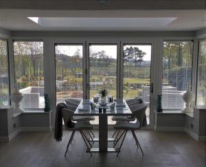 White Aluminium Bi-Fold Doors - SRJ Windows