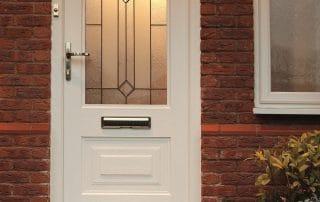 Rockdoor white front door