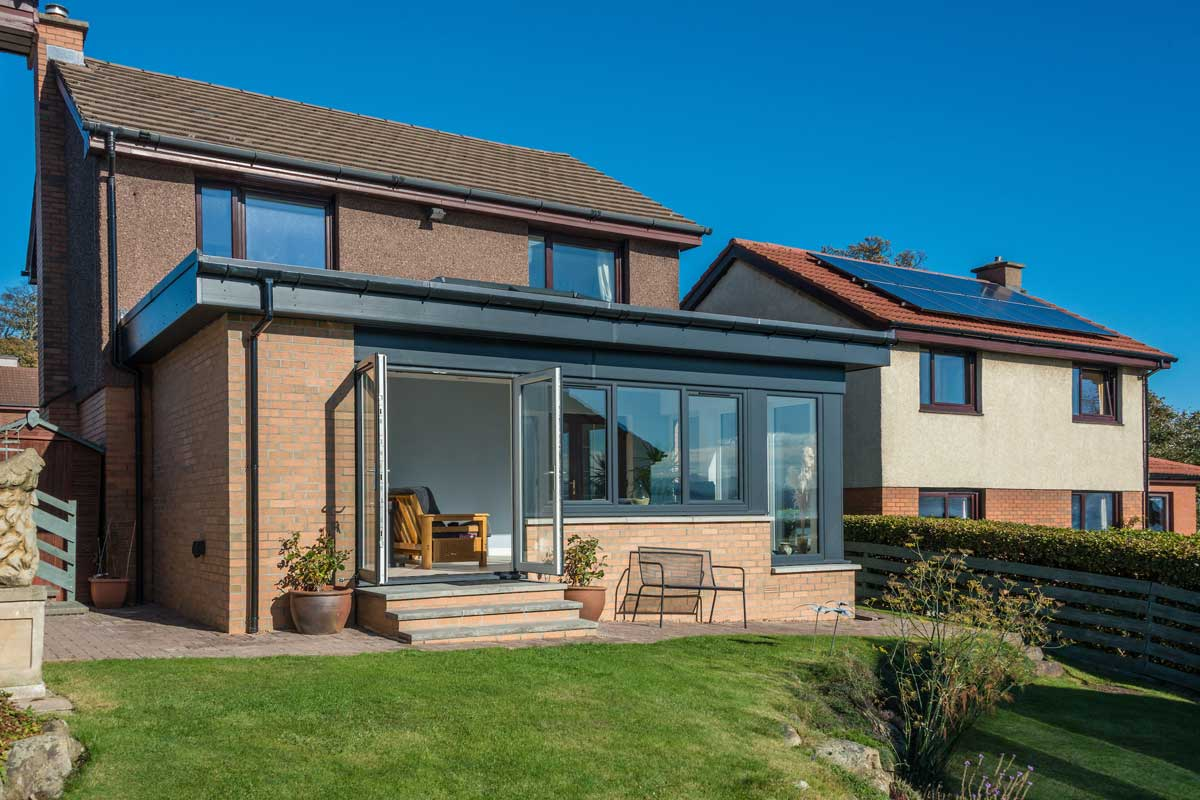 Dundee uPVC sunroom, double glazing