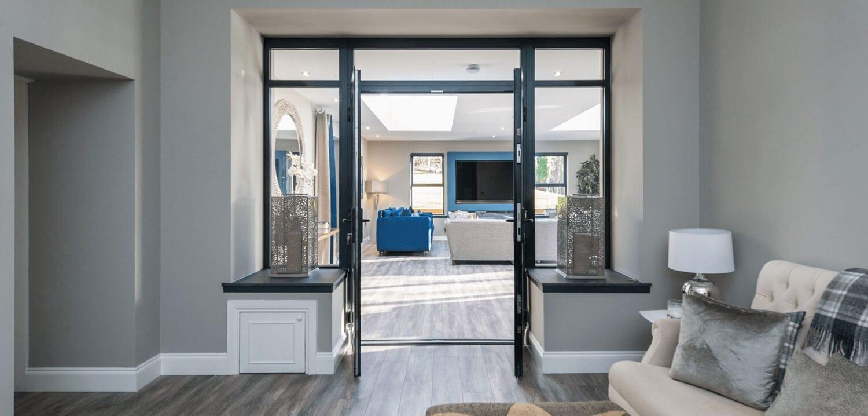 Slimline ALuminium French Doors Dunfermline