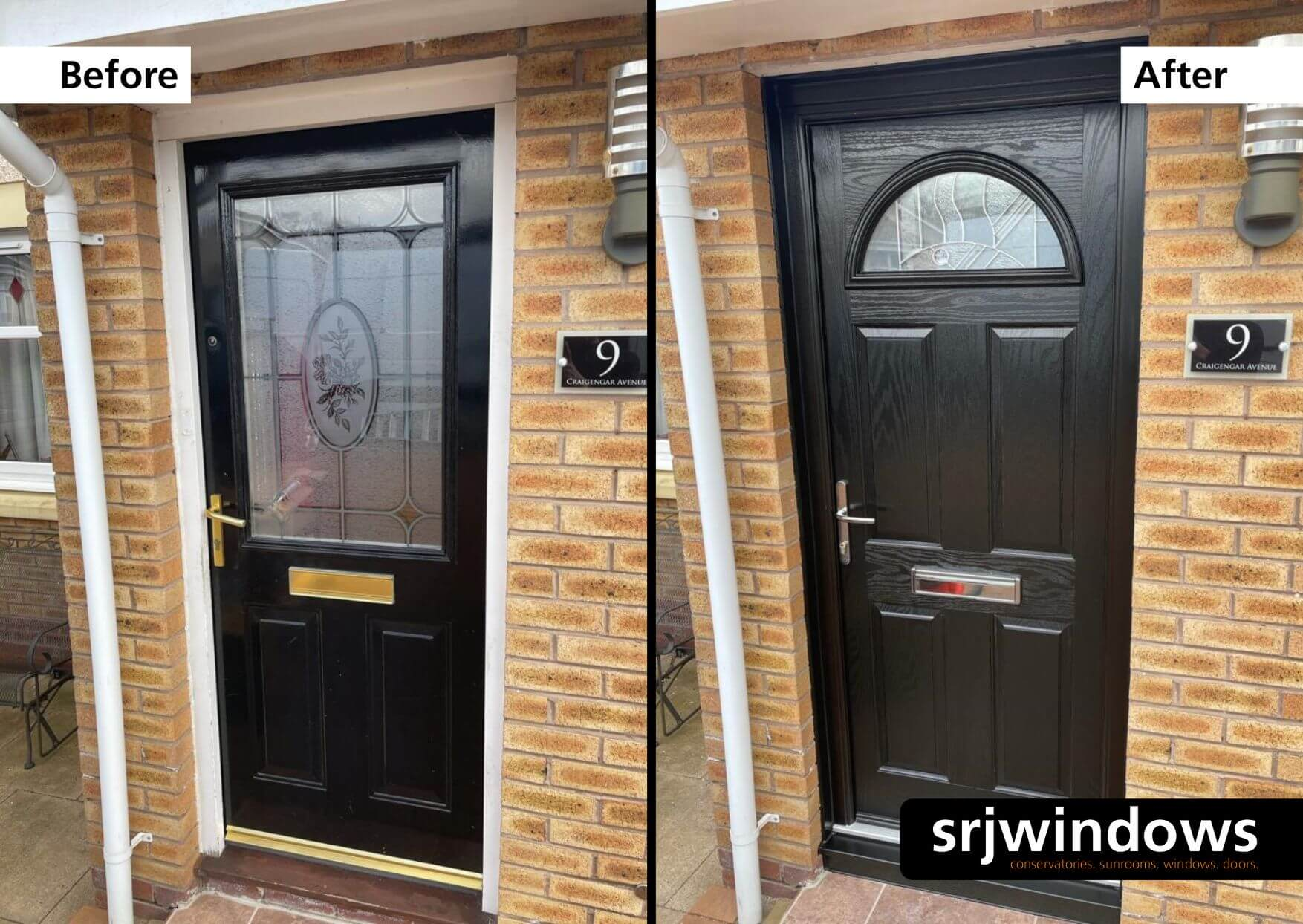 Black Composite Door Falkirk